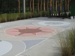 plaza-compass rose