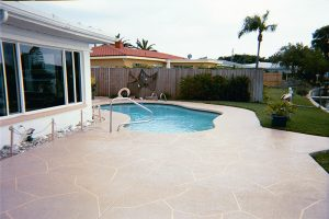 pool deck-flagstone