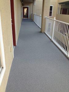 walkway-quartz coating